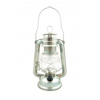 15 LED Hurricane Lamp - Silver